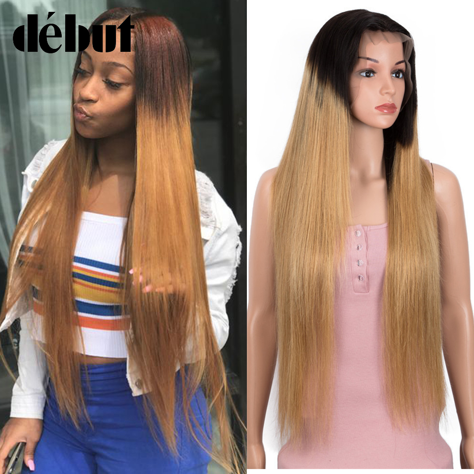 Debut 13x4 Lace Front Human Hair Wigs Brazilian Straight Wigs For Black Women 30 Inches TT1B/99J Red Ombre Cheap Human Hair Wigs
