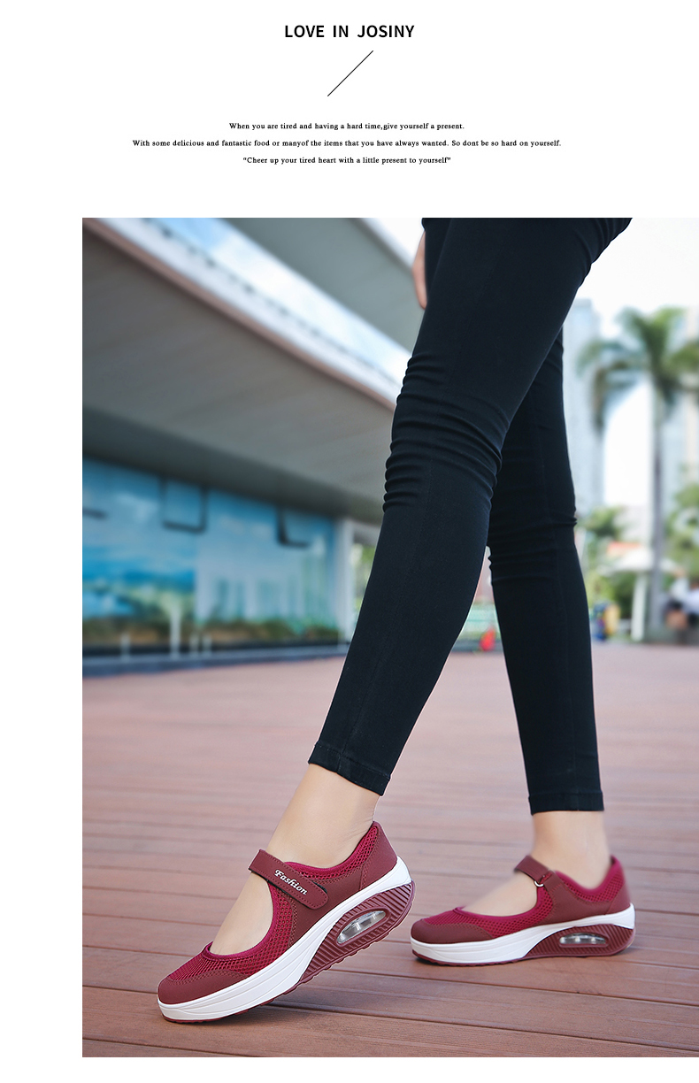 STS Brand 2019 New Fashion Women Sneakers Casual Air Cushion Hook & Loop Loafers Flat Shoes Women Breathable Mesh Mother's Shoes (12)