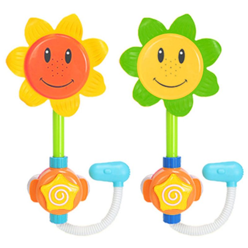 Kids Sunflower Shower Water Squirt Fun Interactive Bathtub Toys For Toddlers Children