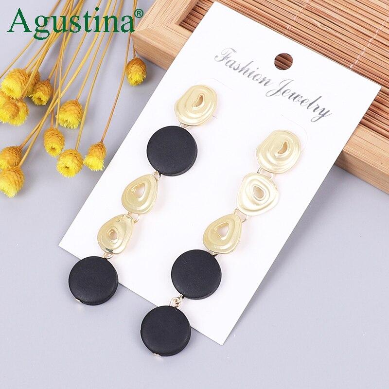 2020 Wooden Earrings Fashion Jewelry Drop Earrings For Women Long Earrings Female Small Boho Girl Pendientes Wholesale Funny CC