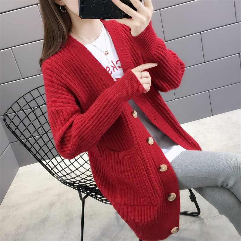5160 (1 место № 1) новый абзац однобортный рост в осенней одежде кардиган свитер платье карман 58