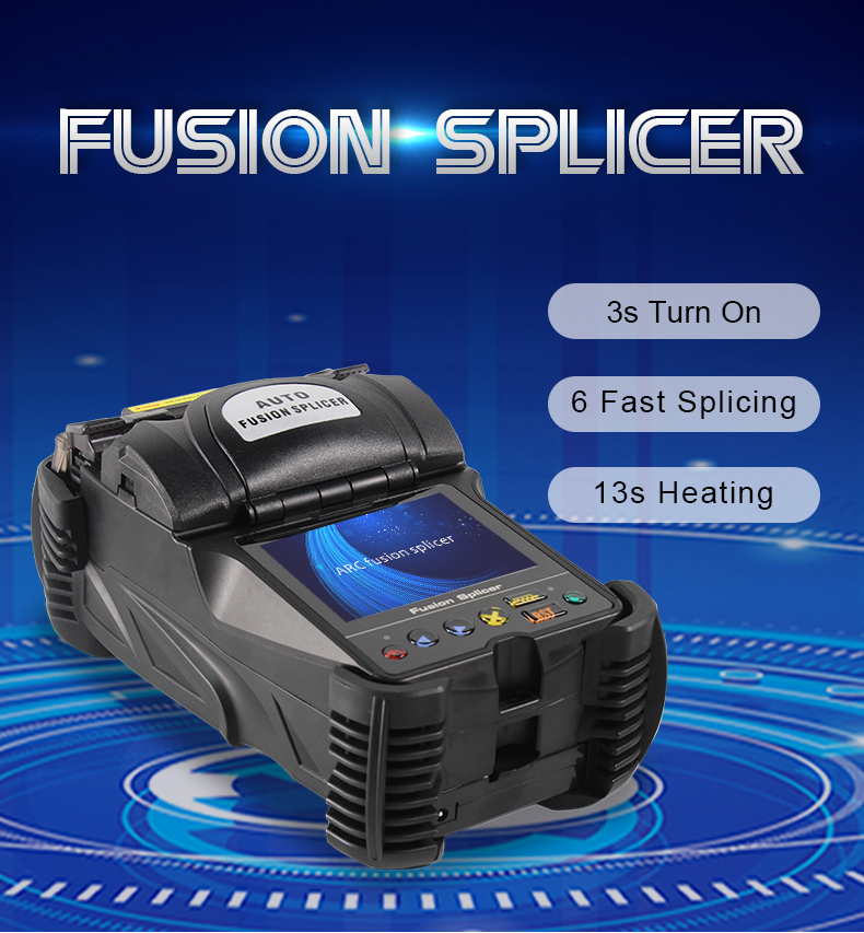 Free Shipping 3.5 Inch Touch Screen Fusion Splicer Mini Portable Fiber Splicing Machine