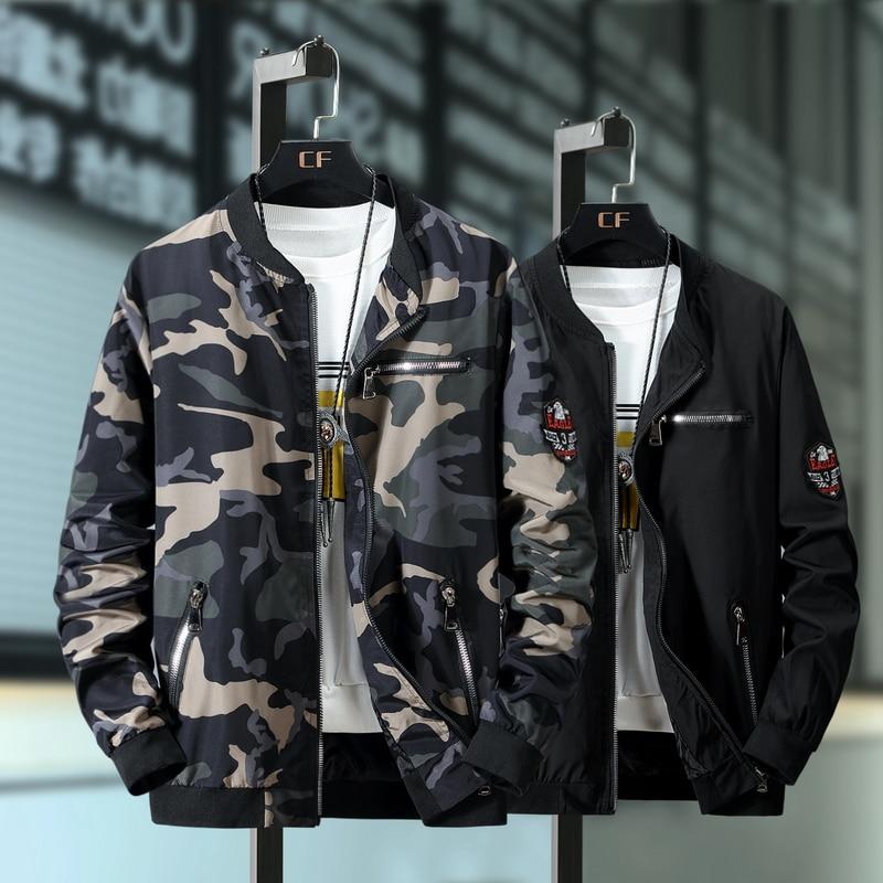 Plus Size 9XL 8XL 7XL Camouflage Casual Jacket Men Spring Autumn Fashion Male Windbreaker Hooded Coat Bomber Military Jacket Men