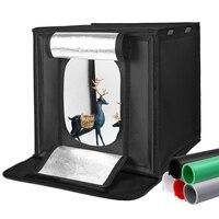 Caja de luz LED plegable para estudio fotográfico, carpa de luz blanca, verde y negra, accesorios de fondo, caja de luz