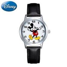 Quartz-Watch Mickey-Mouse Childhood Waches Classic-Design Kids Student Cartoon Disney