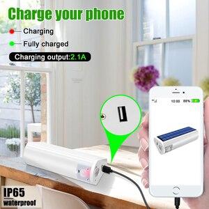 Image 4 - Linterna Solar portátil multifuncional, 650lm, cargador de teléfono, lámpara impermeable para exterior e interior, para Camping