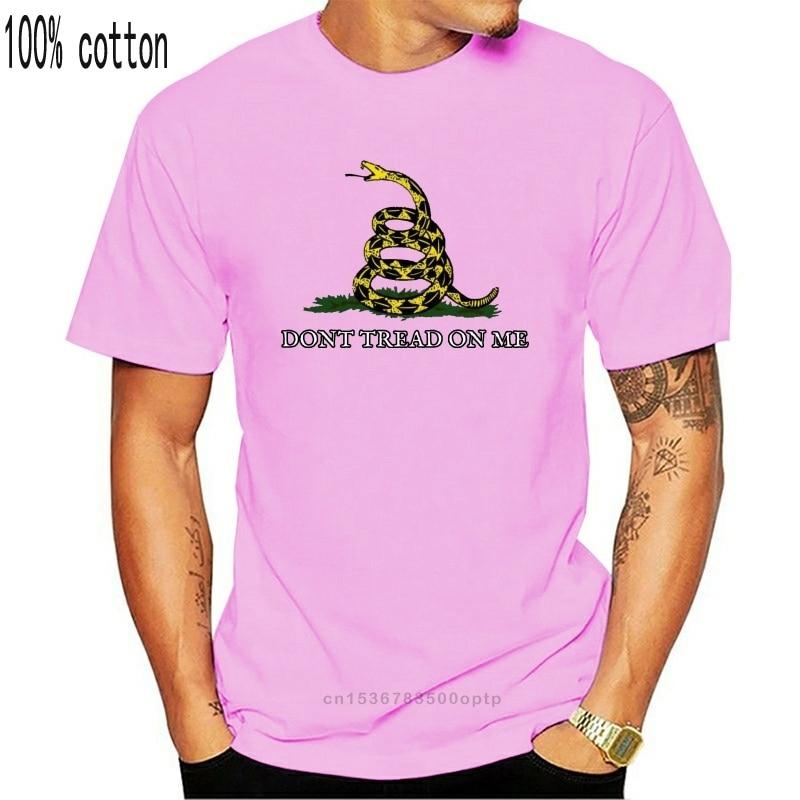 Camiseta engraçado t camisa masculina novidade mulher tshirt gadsen bandeira (não pise em mim)
