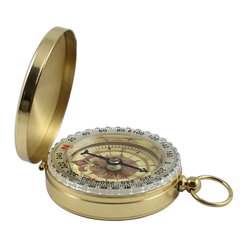 Compass Outdoor Camping Camping Travel Portable Pocket Gold New Navigation Flip Pure Copper High Quality