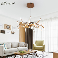 Simple LED Pendant Lights gold Lamp For Living Room Lustre Pendant Lights