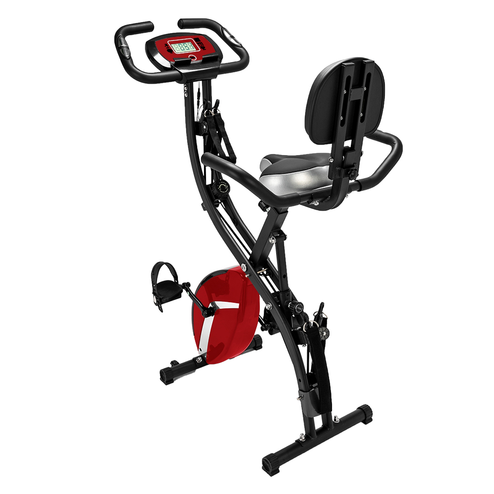 3-in-1 Folding Upright Bike for Indoor Exercise Cardio Workout Fitness image