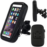 Gps 토 nav 장치 및 핸드폰에 대 한 마운트 홀더와 5.5 인치 방수 360 ° 학위 자전거 오토바이 오토바이 케이스 가방
