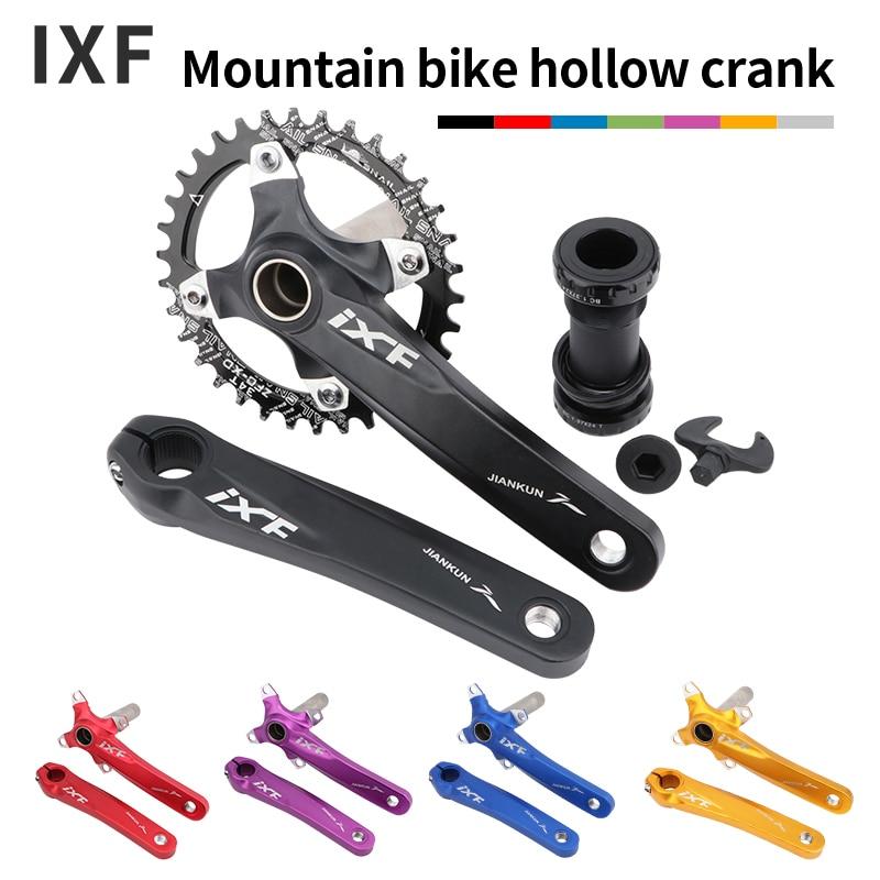IXF Bicycle Crank Set 104 BCD CNC Untralight Crank Arm MTB/Road Bicycle Crankset With BB Crank for Bicycle Accessories Bike Part