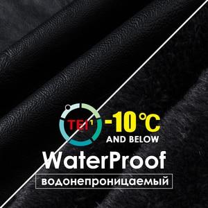 Image 4 - Oumor 남자 2020 겨울 새로운 캐주얼 모터 두꺼운 양털 가죽 자켓 남자 가을 야외 패션 바이커 따뜻한 PU 가죽 자켓 남자