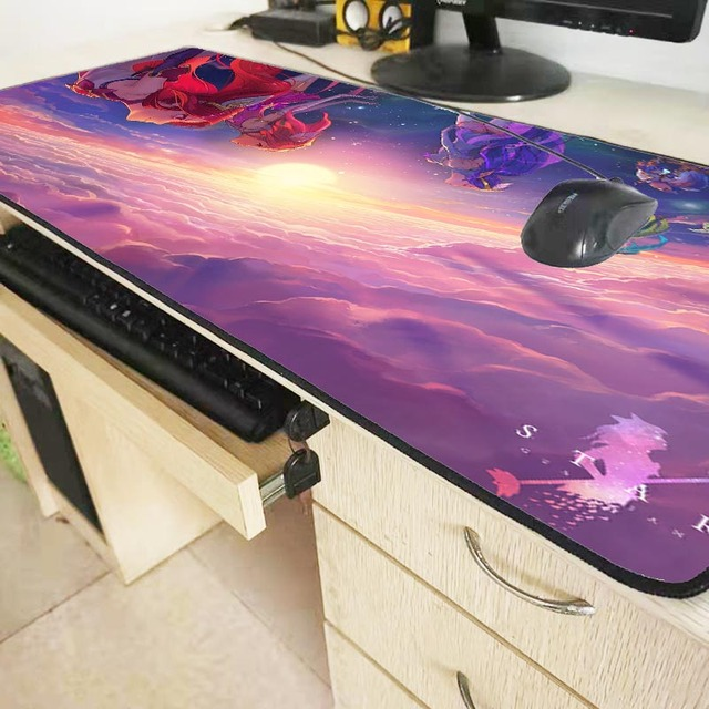 XGZ League of Legends Girl Gaming Large Locking Edge Mousepad Desk Mat Computer Game Mouse Pad Gamer Play Mats For CSGO DOTA XXL 5