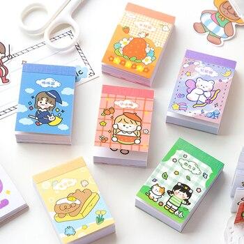 Soft set beans Journal Decorative Kawaii Cartoon Stationery BOOK Stickers Scrapbooking DIY Diary Album Cute girl cat Stick Lable - discount item  18% OFF Stationery Sticker