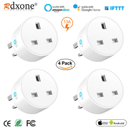 WiFi Socket Smart Plug UK Wireless Extender Remote Outlet Adaptor Energy meter Smart Home Automation Alexa Google Compatible