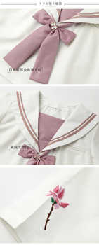 Japanese School Uniform Anime Women/girl Super Kawaii Sailor Suit Tops+tie+skirt Sexy Student Cos Set Autumn Support Wholesale