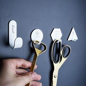 4 шт. крючок для бытовой кухонной стены двери из нержавеющей стали крючок Вешалка креативное письмо кактус ключ сумка черный белый кухонные настенные крючки