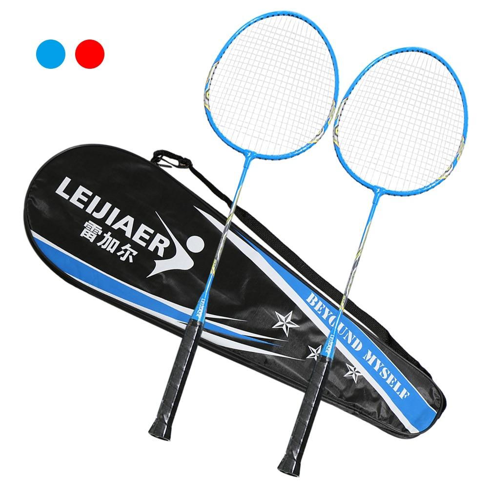 2 Player Badminton Racket Set Indoor Outdoor Sports Students Training Practice Badminton Racquet With Cover Bag