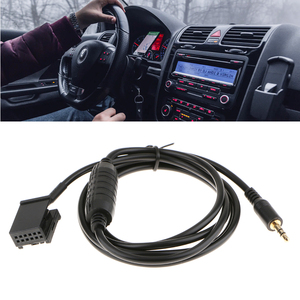 1 Pcs 3.5mm Jack Connect Car Radio Car Mini For ISO 12 Pin Aux Cable Adapter For Bmw E85/E86/E83 Z4 X3 Cooper R50/R53 Etc