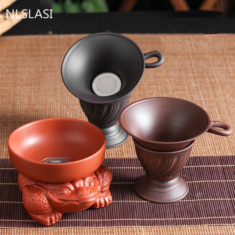 Yixing Creative Purple Clay Tea Strainer Tea Chahai filter Tea set Tea Accessories Coffee Punch Filter Tea Sets Kichen Tool