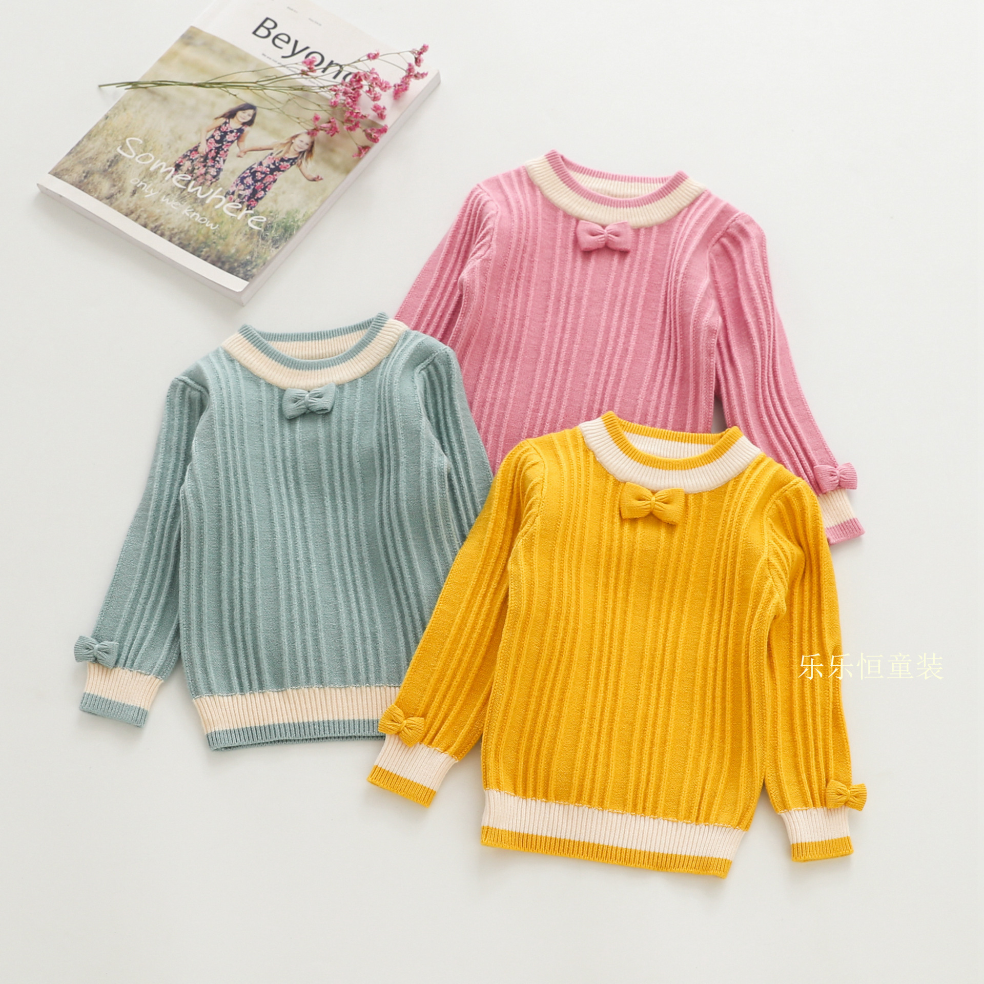 Le Constant Girls Autumn 2018 Kids' Sweater Pullover Childrenswear Sweater