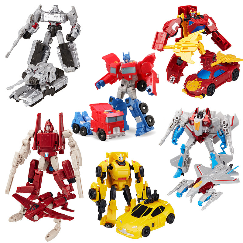 Transformation Robot Toy Engineering Vehicle Model Educational Assembling Deformation Toy for Children Action Figure Car