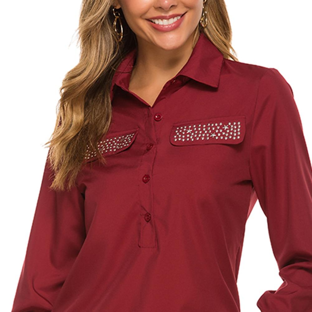 Women Blouses 2020 Fashion Long Sleeve Turn Down Collar Office Shirt Leisure Blouse Shirt Casual Tops Plus Size Blusas Femininas