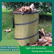 Waste-Bins Gardening-Bag Gallon Outdoor Reusable Waterproof Collapsible-Container Yard