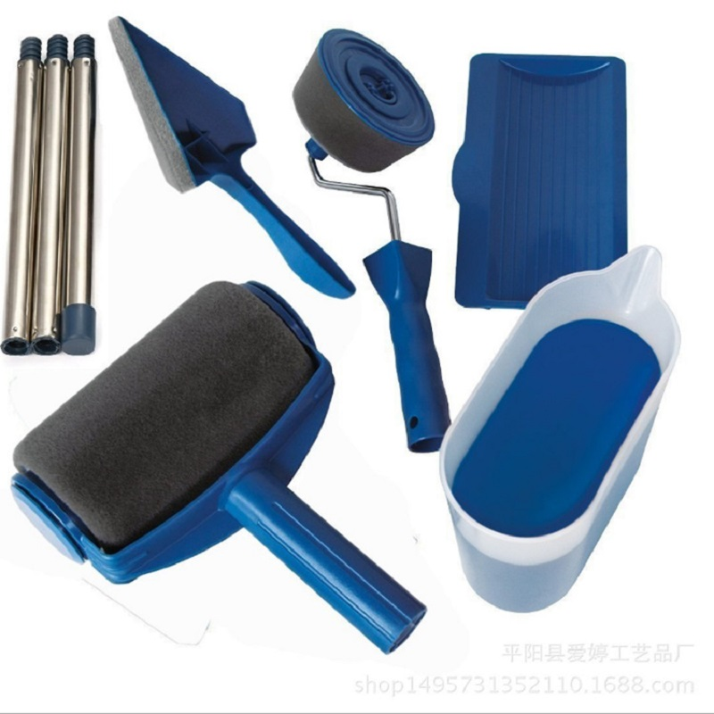 New Style Seamless Sponge TV Product Pintar Facil Roller Brush Five In One Multi-functional Paint Brush Set
