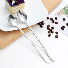 2 tipos de aço inoxidável conjunto de louça colher colher de chá colher de café para sobremesa café sorvete barra ferramentas cozinha acessórios