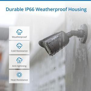 Image 5 - Sistema de seguridad para vídeo doméstico SANNCE 8CH 1080P con cámara de seguridad 5IN1 1080N DVR 4X 1080P IR inteligente al aire libre impermeable Kit de vigilancia CCTV