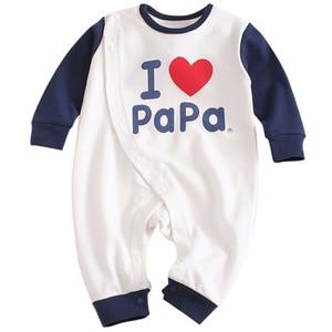 Image 3 - 2019 Spring New Infants Clothes Romper Cotton letter print  10.15