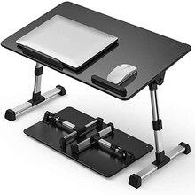 Стол компьютерный Регулируемый с охлаждающим вентилятором, складная подставка для ноутбука, столик на кровать для дома и учебы, 52x30 см