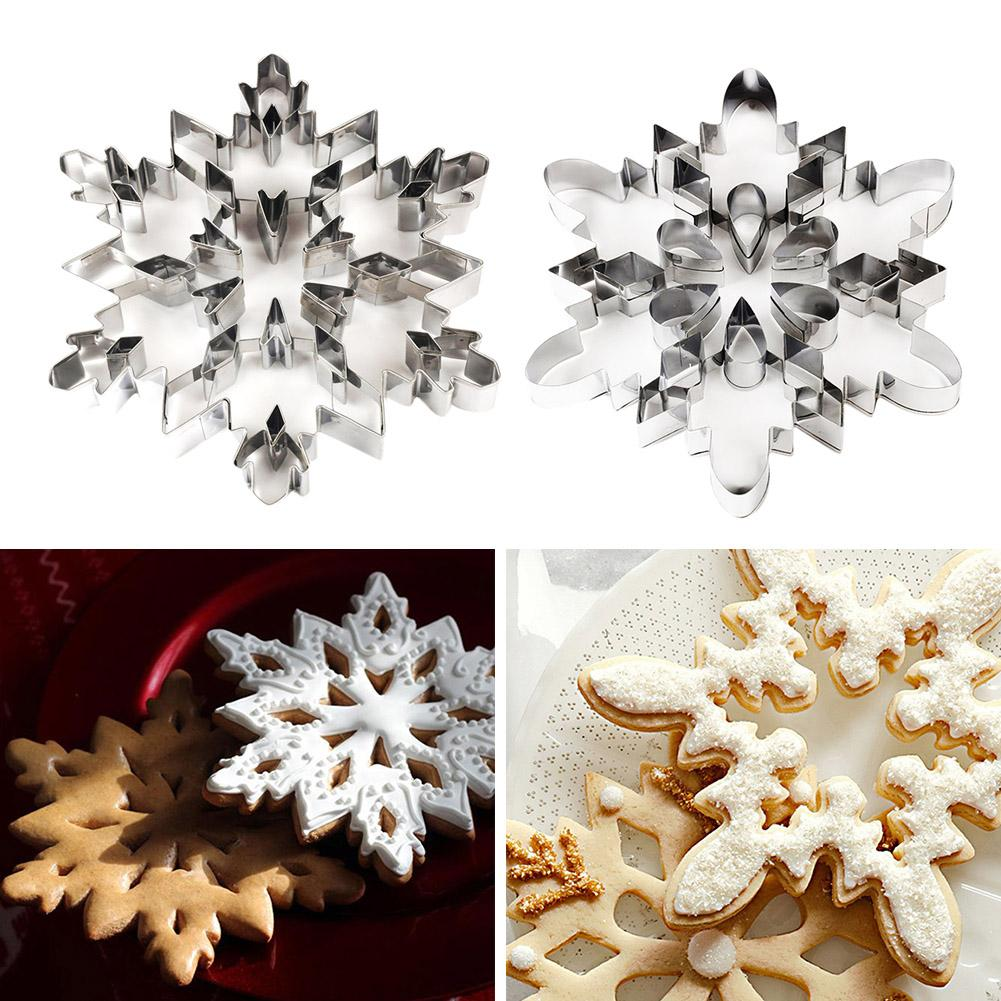 New Stainless Steel Snowflake Cookie Cutter Biscuit Pastry Cake Mold Mould Baking Tool