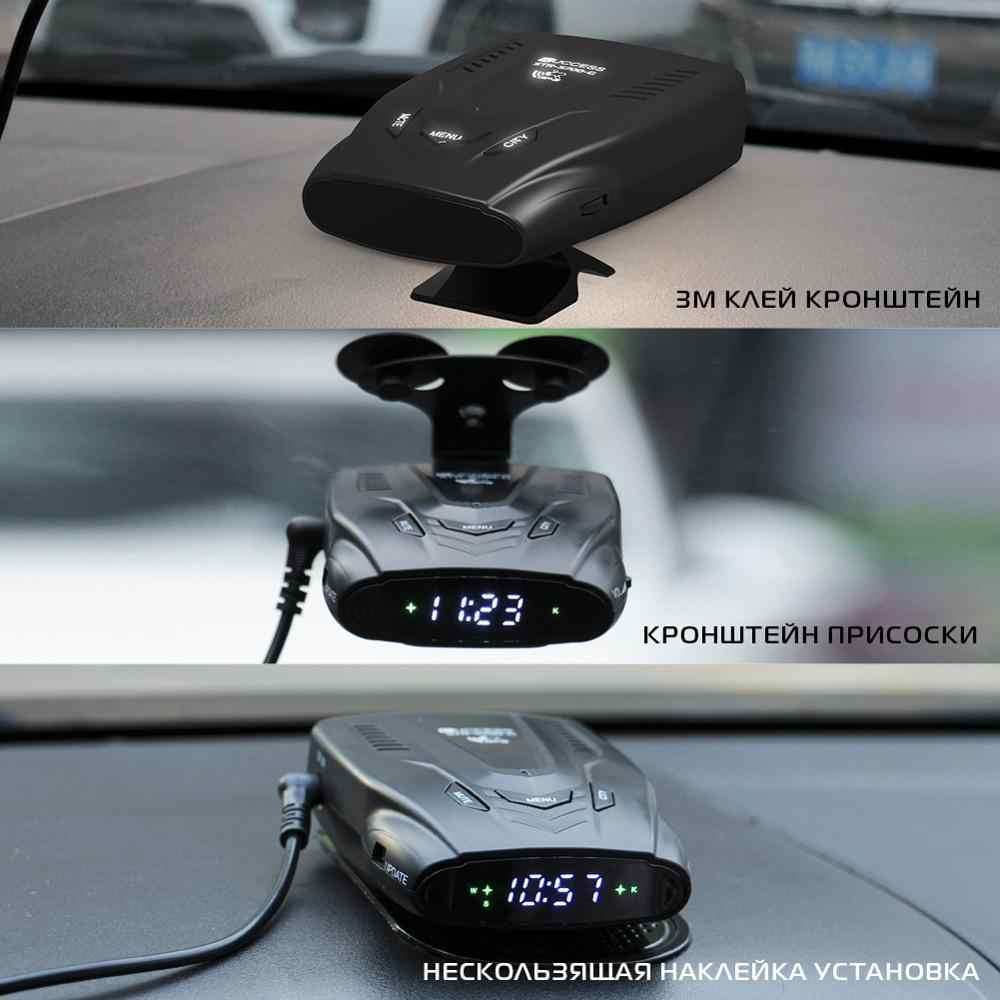 Ruccess 2 em 1 detector de radar para carro para a rússia com gps anti radar detector de carro anti-radar velocidade x k la ct