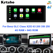 Krtabo Android Multimedia Player Car Radio Navigation WIFI GPS For Mercedes Benz GLC X253 63 200 350 250 2015~2019