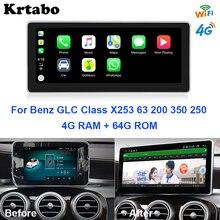 Krtabo Android Đa Phương Tiện Xe Đài Phát Thanh Điều Hướng WIFI GPS Cho Xe Mercedes Benz GLC X253 63 200 350 250 2015 ~ 2019
