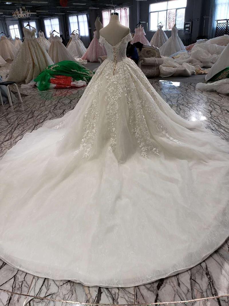 BGW HT42130 Popular Wedding Dresses 2019 Sweetheart Appliques Lace Up Princess Wedding Gowns With 150cm Train Vestido De Noiva
