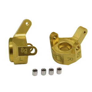 Hot racing Brass Front Steering Knuckle for Axial SCX24 90081(China)