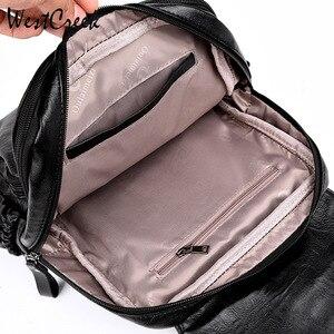 Image 5 - ويست كريك العلامة التجارية خمر حقيبة ظهر مصنوعة من الجلد الإناث حقيبة كتفية للسفر Mochilas المرأة على ظهره سعة كبيرة الظهر للفتيات