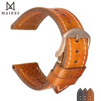 MAIKES Fashion Echtes Leder Armband Schwarz Silber Rose Gold Pin Schnalle Uhr Band Armband 18-24mm für amazfit Bip