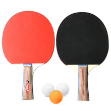 Table Tennis 2 Player Set Bats Rackets with 3 Ping Pong Balls for School Home Sport Ball