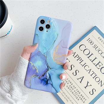 Marble Texture Stone Phone Case For iPhone 11 11Pro Max X XR XS Max 7 8 Plus Soft IMD Silicone Back Cover Fashion Matte