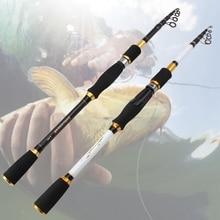Карбоновая удочка с низкой прибылью 1,8 м, 2,1 м, 2,4 м, 2,7 м, телескопическое забрасывание, спиннинг, удочка для путешествий, рыболовные снасти, удочка для приманки