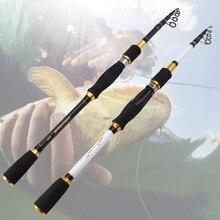 Plus bas profit 1.8m 2.1m 2.4m 2.7m carbone canne à pêche télescopique coulée filature canne à pêche voyage matériel de pêche leurre canne