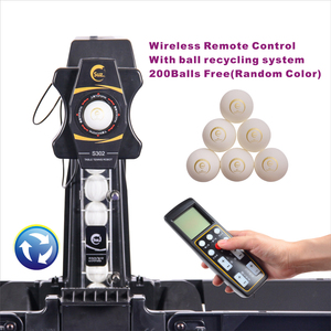 Image 2 - SUZ Wireless Remote Control Table Tennis Robot S302 PING PONG Training Machine Automatic Tennis Ball Machine  for 40+ balls