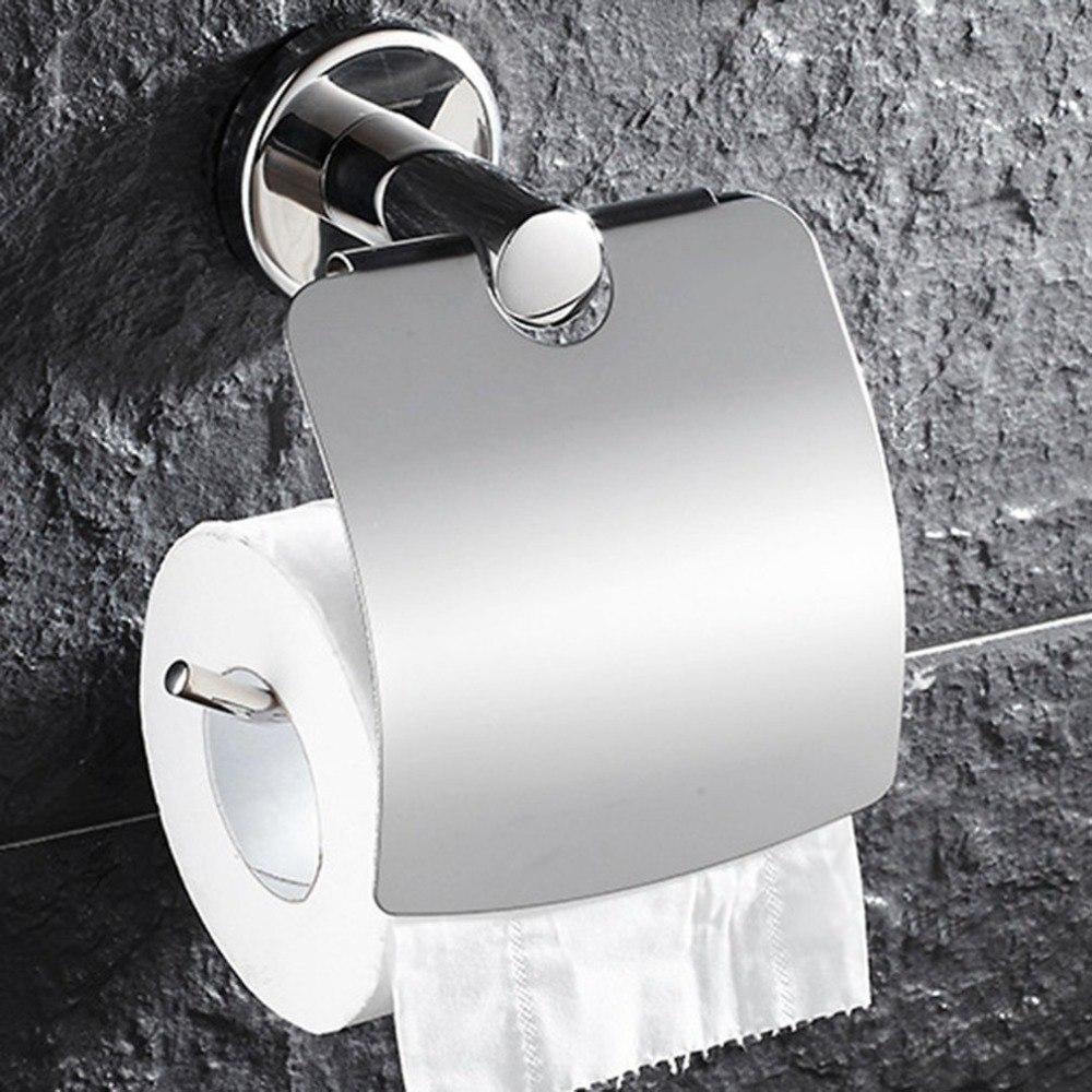 Stainless Steel Toilet Paper Holder Tissue Holder Toilet Multifunctional Anti-rust Tissue Paper Holder Bathroom Roll Paper