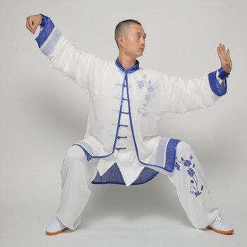 USHINE HX Chinese TaiChi uniform KungFu clothes martial arts suit Qigong printing demo WuShu outfit woman girls Man