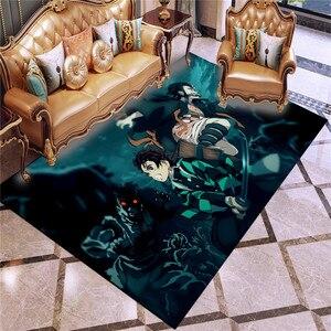 3D Print Carpet Demon Slayer Rug Outdoor Rug Kids Bedroom Rugs The Film Movie Floor Mat Living Room Anime Cartoon Floor Carpet